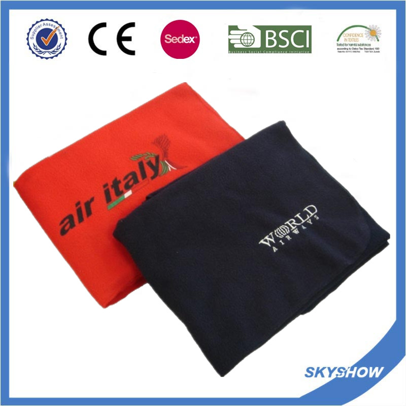 Promotional Custom Print Logo Polar Fleece Blanket (SSB0210)