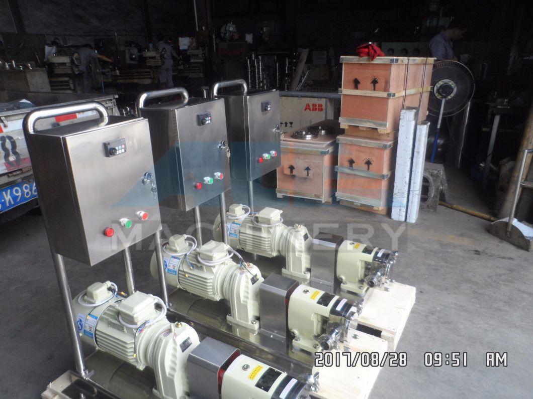 Variable Speed Sanitary Lobe Pump with Double Mechanical Seal Rotary Pump