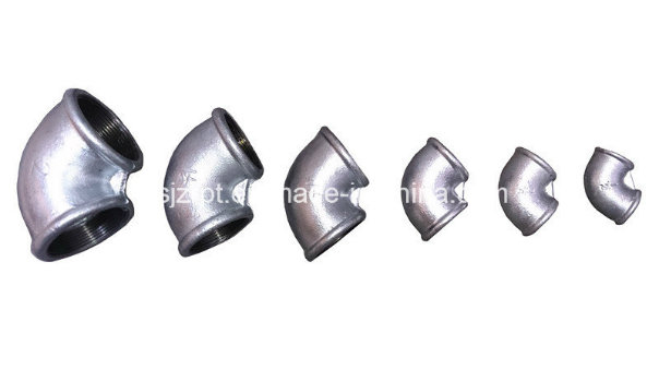 Beaded Galvanized Elbow Malleable Iron Pipe Fittings