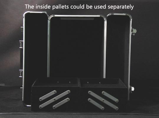 Large Size Black PVC Cosmetic Train Case (SACMC027)