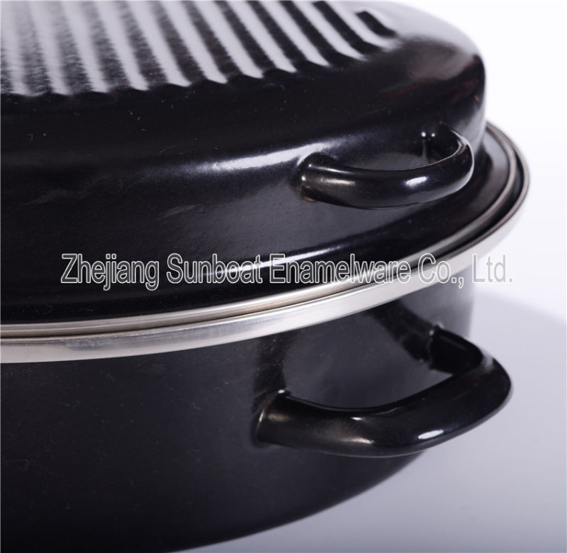 Sunboat L' Heavy Oval Roaster with Stainless Edge Kitchenware/ Kitchen Appliance