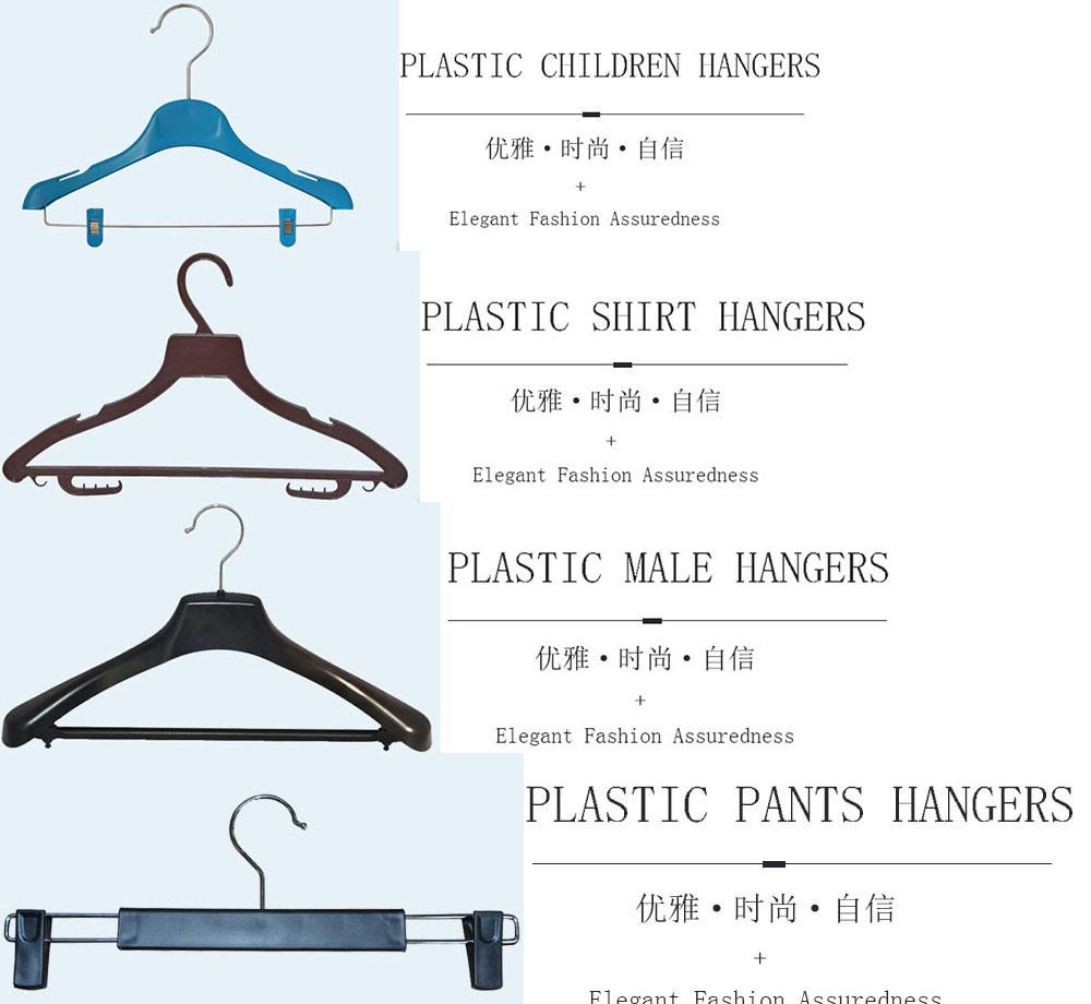 Wholesale Black No Slip Custom Plastic Clip Pant Hangers Velvet