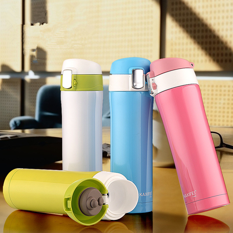 16 24oz 350 450 700 500ml Customized Logo Portable 18/8 Stainless Steel Vacuum Flask Coffee Mug Water Bottle Travel Sports Thermos Cup