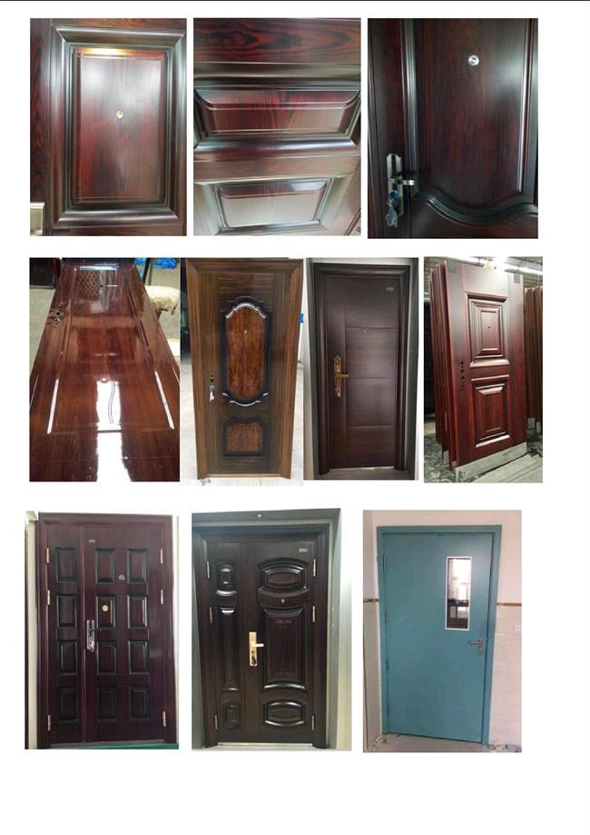 Sell Best Black Walnut Color Steel Door (RA-S086)