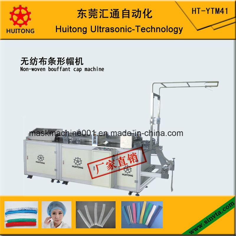 Ultrasonic Non-Woven Bouffant Cap Making Machine