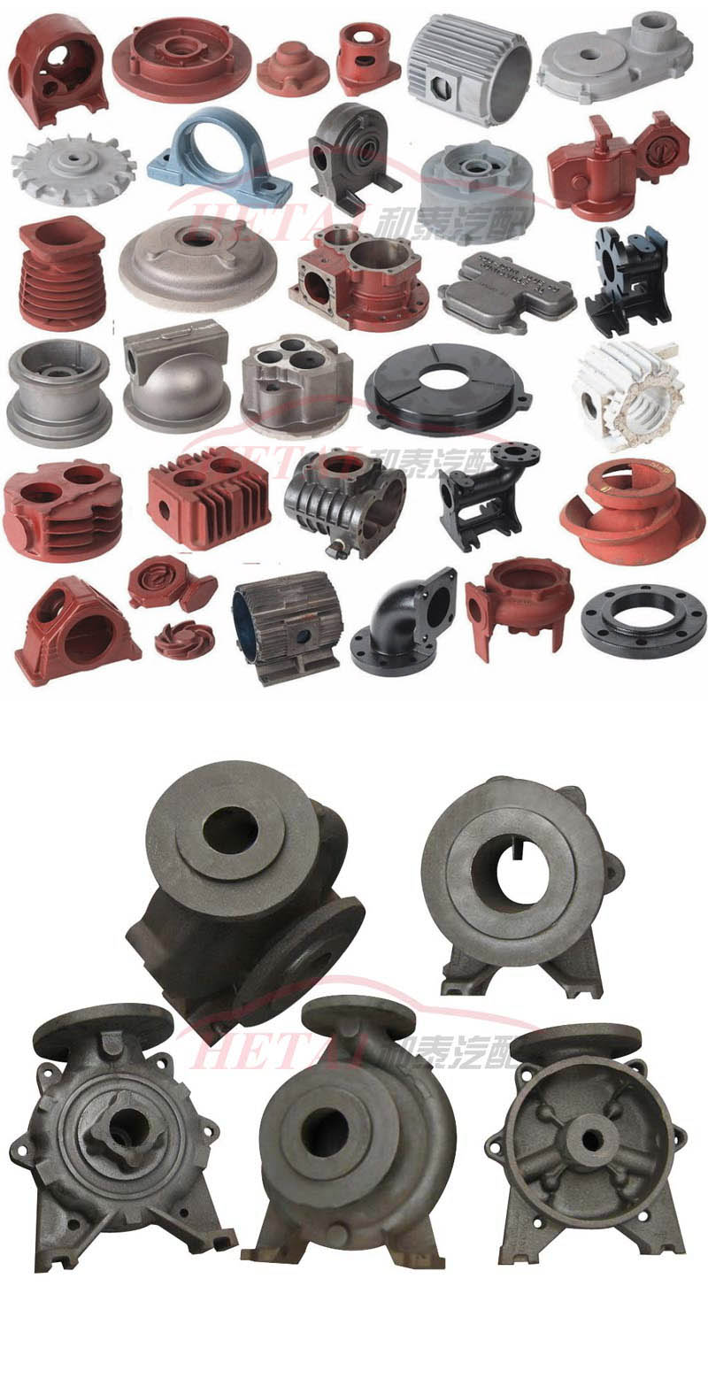 Customized Iron Die Casting Auto Parts for Sale