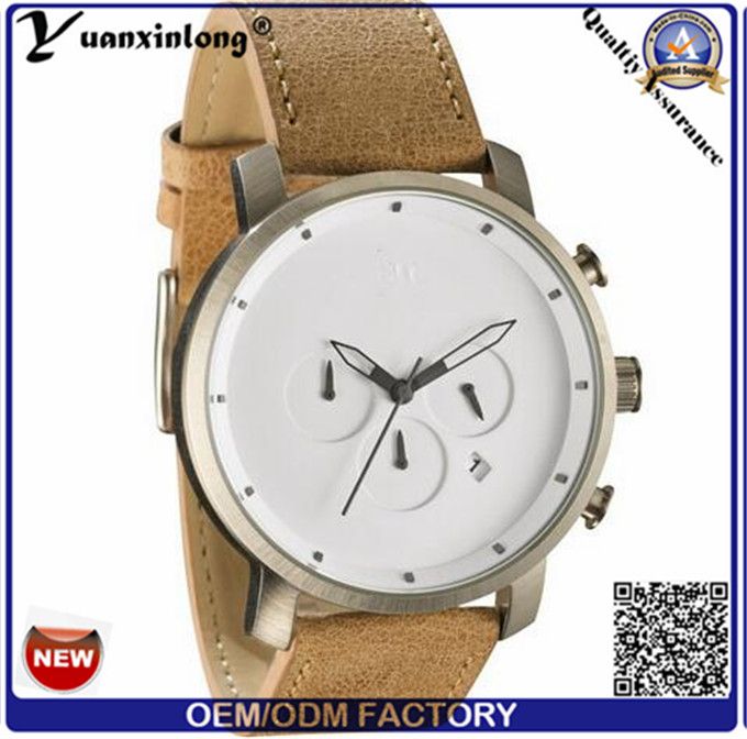 Yxl-380 Business Quartz Watch Mvmt Casual Leather Stainless Steel Backcase Mens Women Watch
