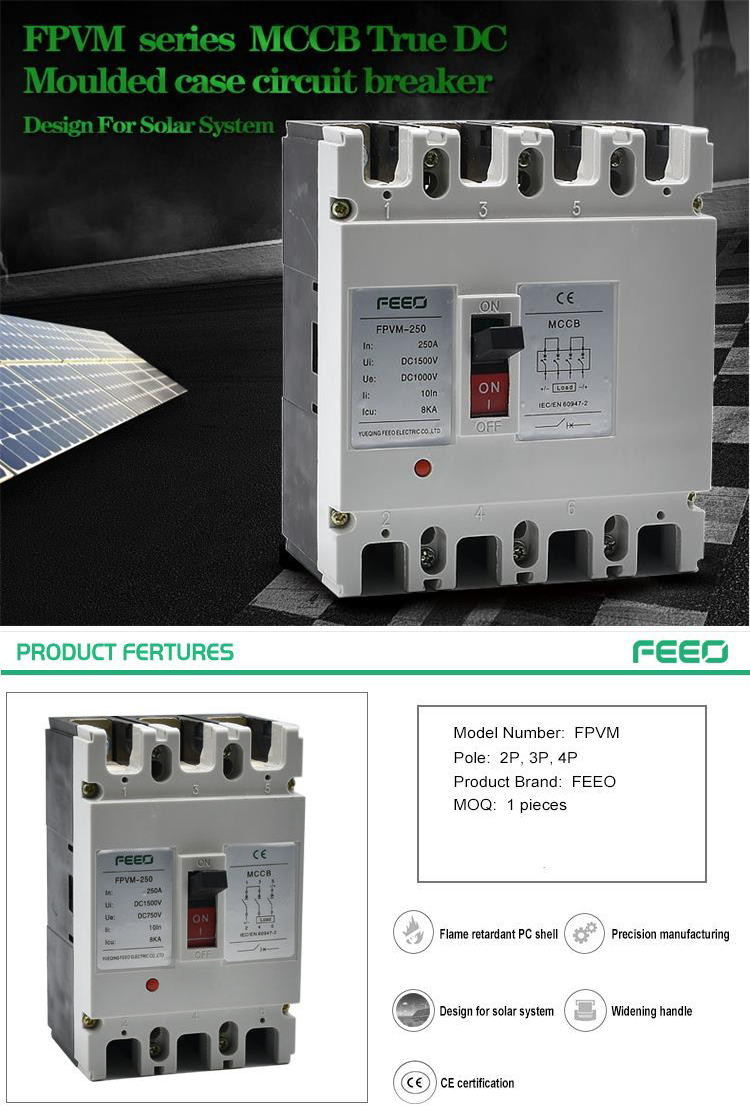 Solar Power 3 Pole Moulded Case Circuit Breakers