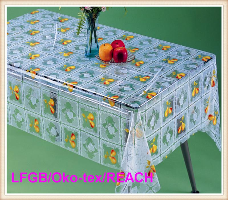 Cheap PVC Transparent Printed Table Cloth New Design