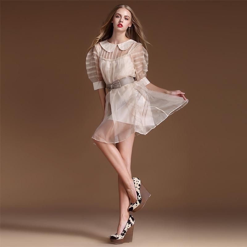 Wedding Dress Bag Bridal Gown Organza Fabric (XSOR-1028)