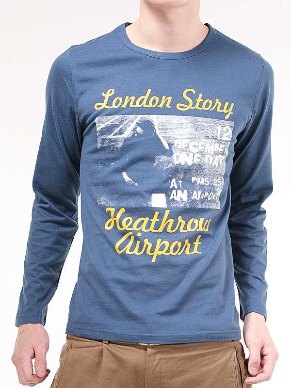 Wholesale Custom Different Kinds of Logo Cotton Fashion Man Long Sleeve Tshirt
