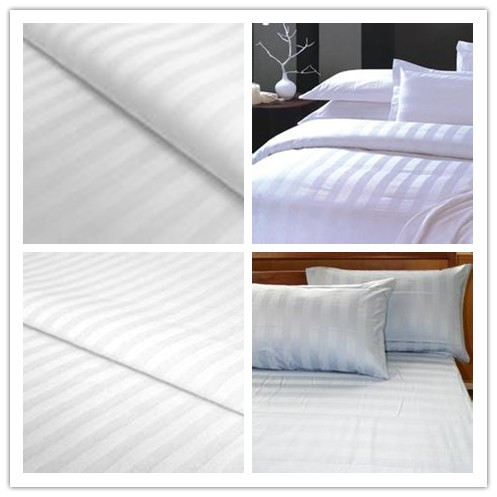 100% cotton white stripe fabrics