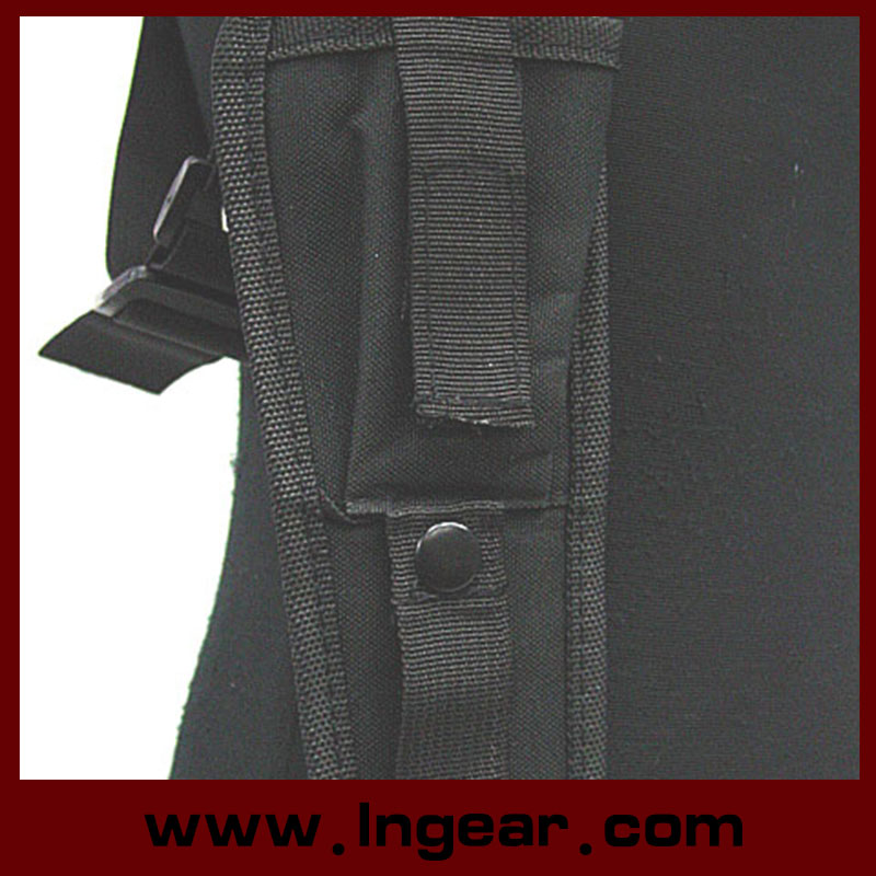 Adjustable Military Tactical Shoulder Pistol Gun Holster Magazine Pouch with Velcro Closure