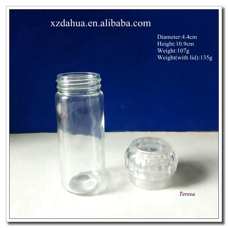 Glass Spice Jars with Grinder Lid
