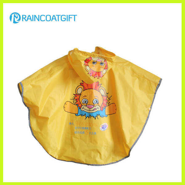 Waterproof Cute Round Shape Children's Rain Ponchos Cape
