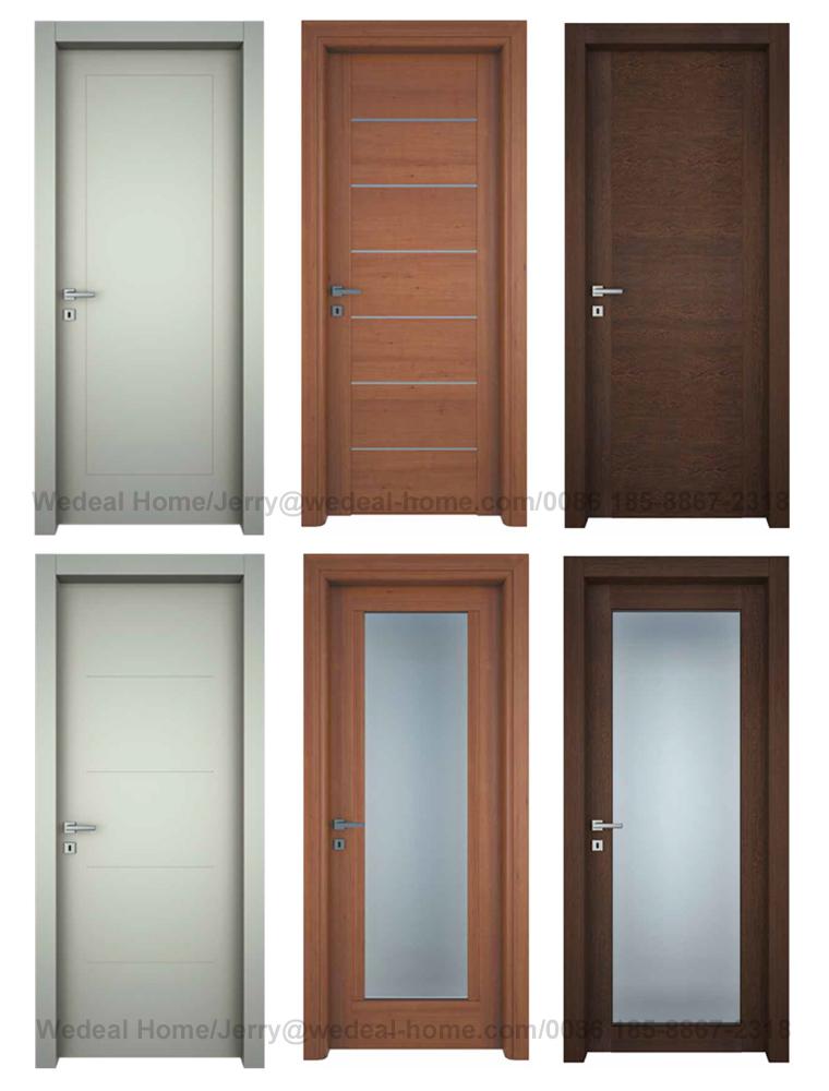 Modern Flush Wood Veneer Hollow Core/Solid Core Composite Wooden Door Factory