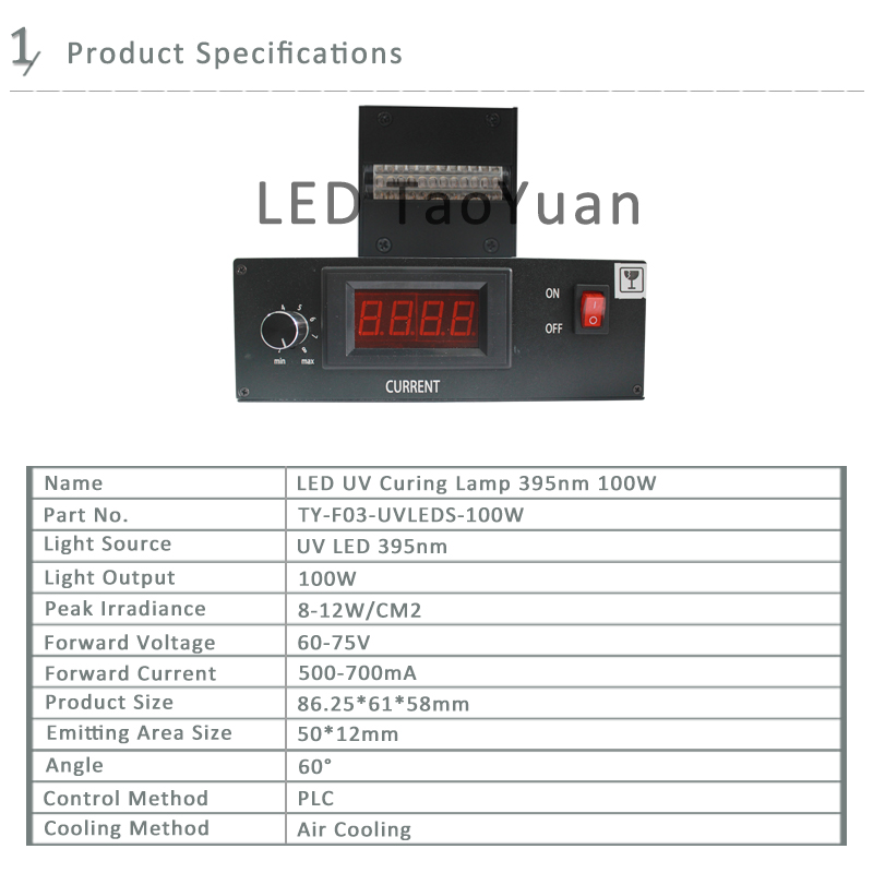 LED UV Curing Lamp 395nm 100W New