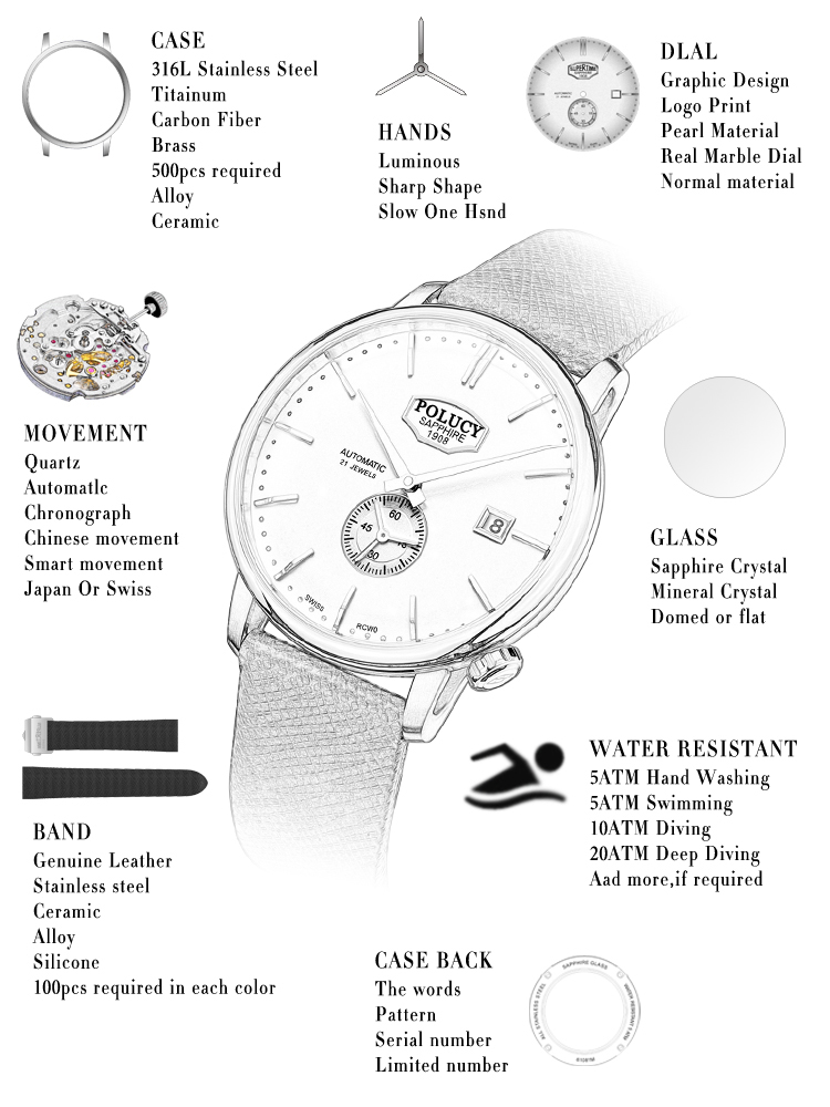 Business Style Silicone Watch for Men OEM Watch