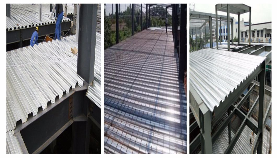 Corrugated Galvanized Steel Concrete Floor Support Decking Sheets