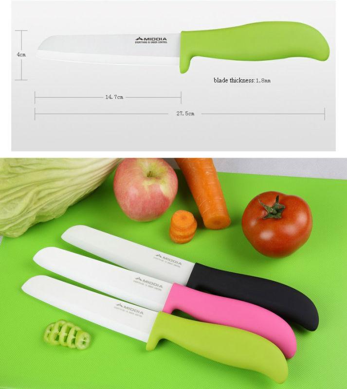 6inch Popular Non-Slip Handle Ceramic Bread/Slicing Knives