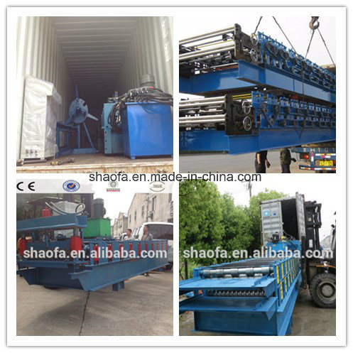 Hydraulic Cutting Metal Profile Corrugated Roof Sheet Roll Forming Machine
