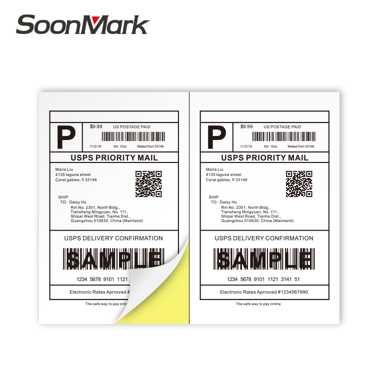 adhesive shipping labels a4