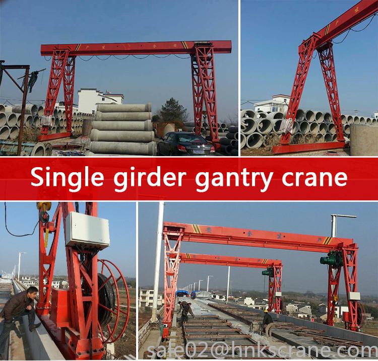 Mh Type Single Beam Electric Gantry Crane