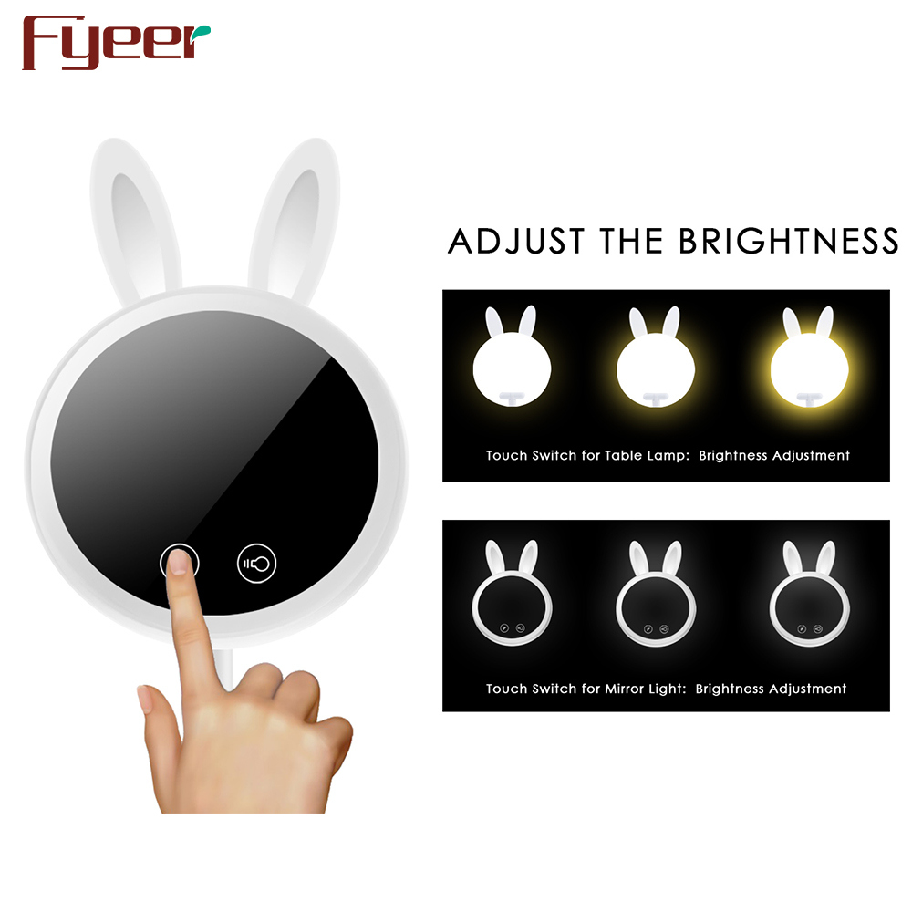 Fyeer 2017 Christmas Gift Multifunction 7 Inch LED Makeup Mirror Lighted Lamp Mirror