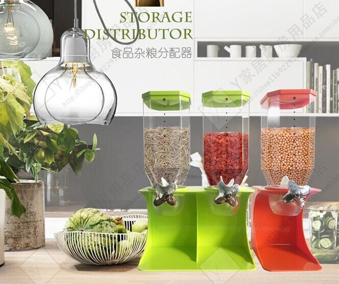 Dry Food Storage Box Kitchen Container Cereal Dispenser Food Dispenser
