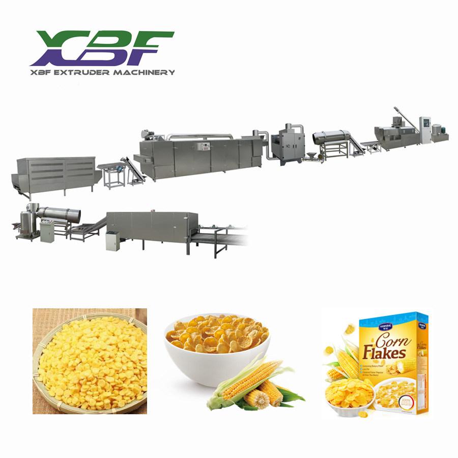 Large Capacity Extruded Kelloggs Corn Flakes Snack Food Machine
