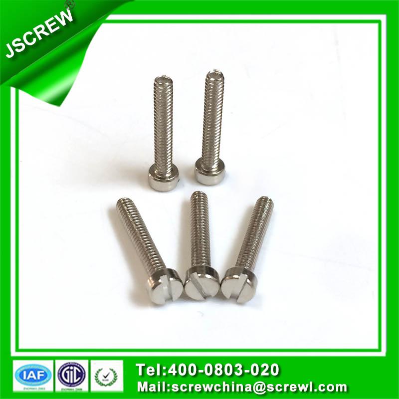 Carbon Steel Nickel Palted Slotted Recess Cap Head Machine Screw