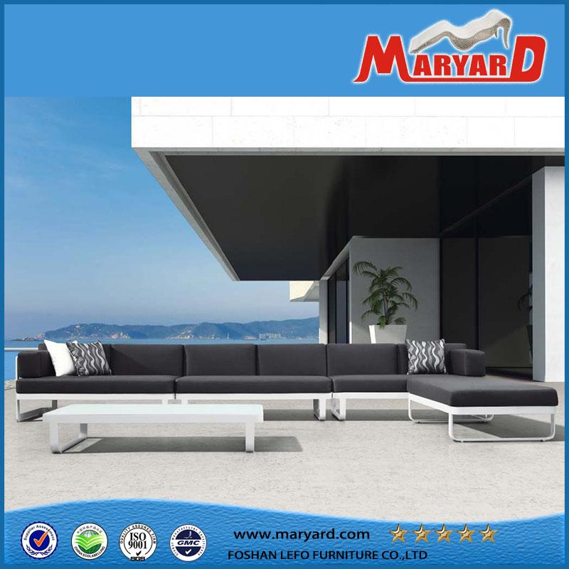 Aluminum Selectional Lounge Sofa Set Patio Metal Outdoor Furniture