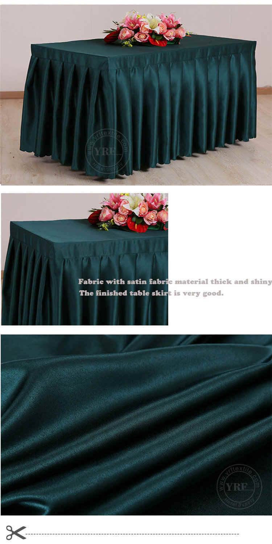 Luxury Black Round Table Skirt