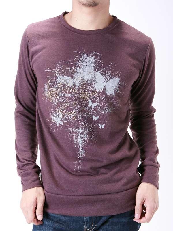 Darkred Screen Printing Fashion Cutton Custom Men Long Sleeve T-Shirt