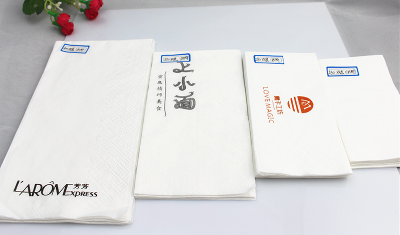 33*33 Cm Size 2 Ply 1/4 Fold White Paper Napkin Wholesale