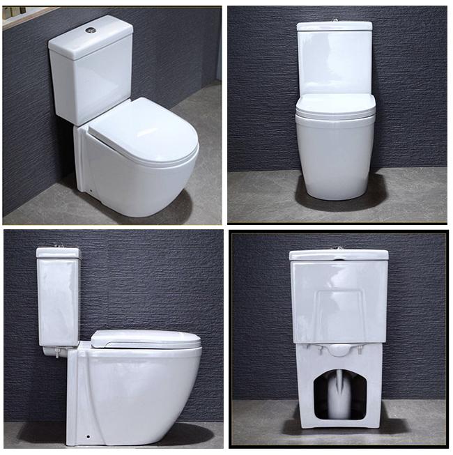 Ceramic Bathroom White Color Two Piece Ceramic Toilet
