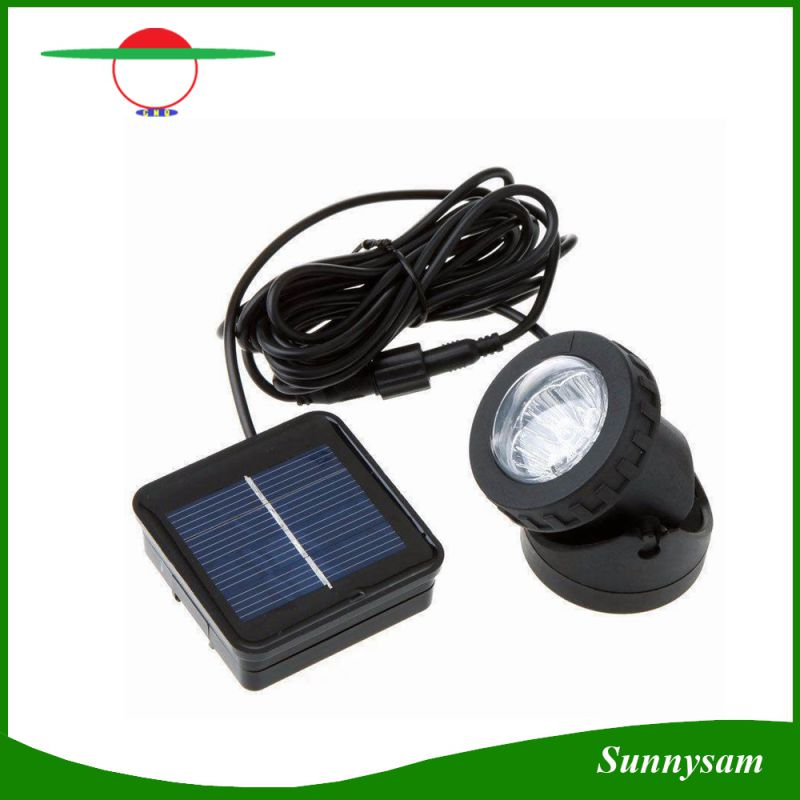 Waterproof IP68 6 LED Solar Powered Light Auto on Outdoor Garden Landscape Yard Lawn Path Pond Security Wall Lamp Spotlight