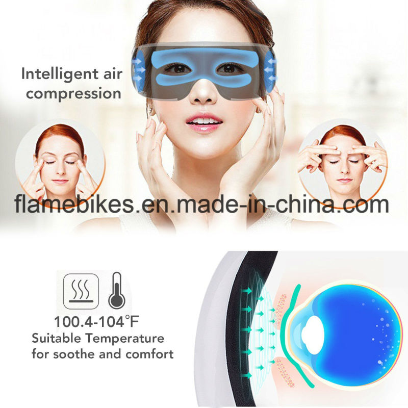 180 Degrees Folding Comfortable Eye Massager Machine with Heating and Vibration