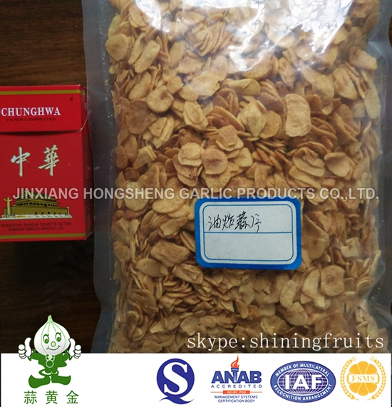 Fried Garlic Flakes with High Quality and Completely Price