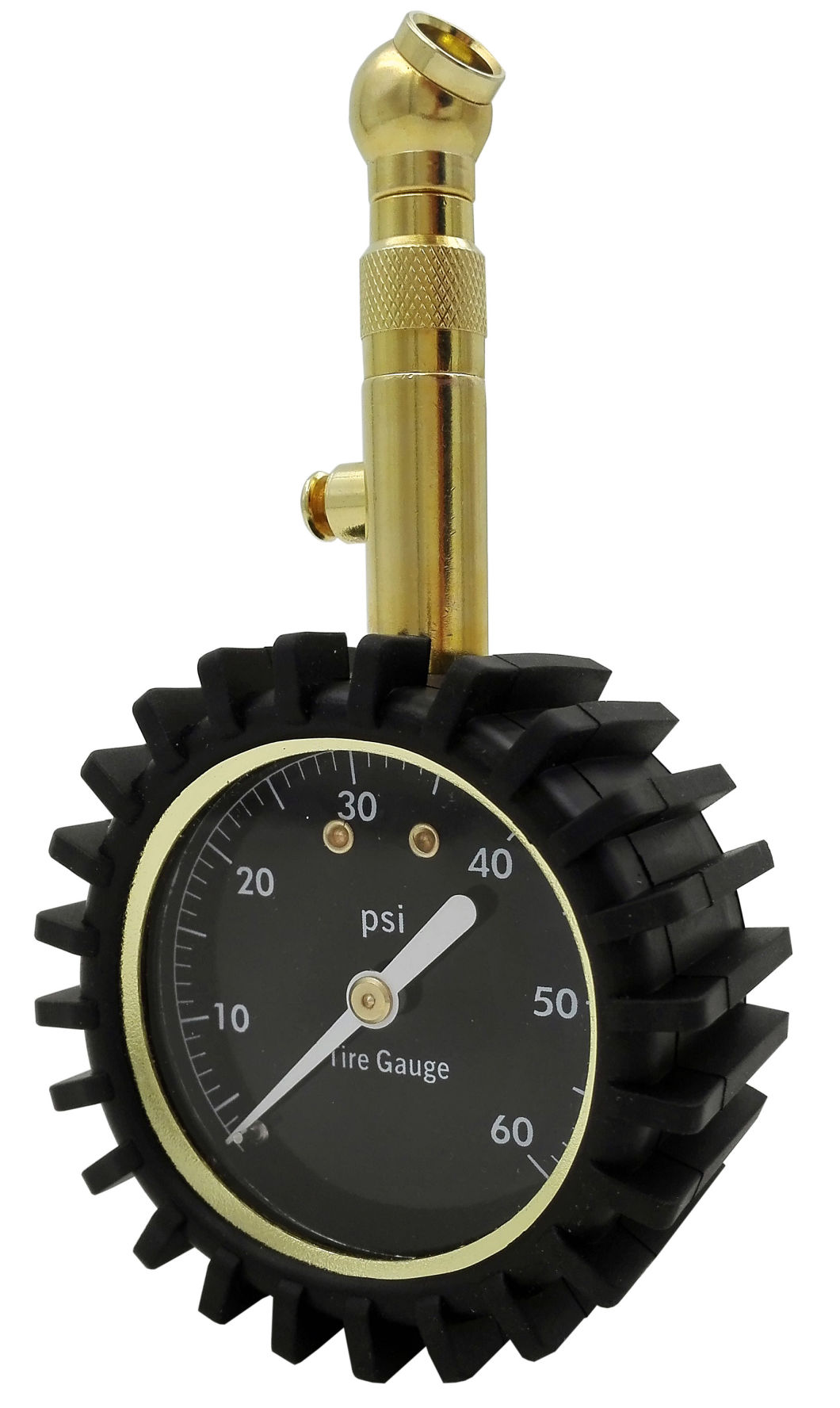 Heavy Duty Tire Pressure Gauge (0-60 PSI) - Certified ANSI Accurate with Large 2