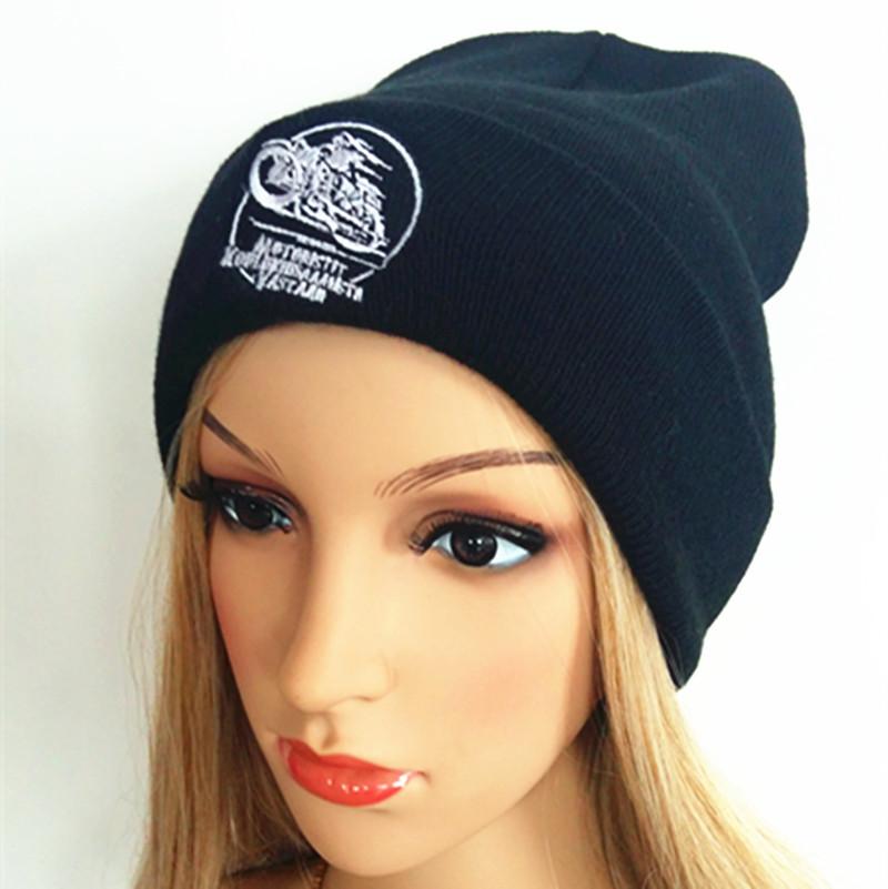 Embroidery, Stripe Roll Edge, Beanie (S-1060)