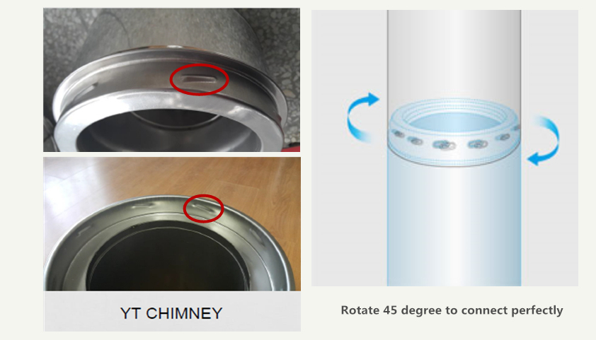 6 Inch Best Quality Flue Pipes Fittings Tubes