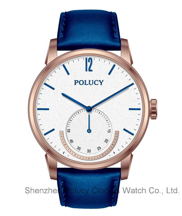 Men Dress Leather Watches Male Stainless Steel Waterproof Sport Wrist Watch