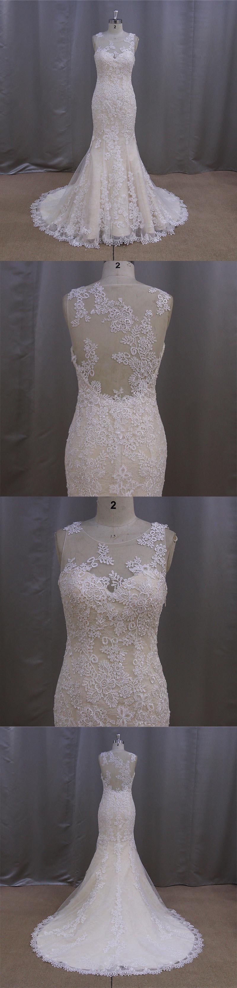 Gorgeous Dropped Lace Wedding Dress Patterns