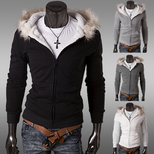 Winter Thick Warm White Cotton Men Jacket/Coat