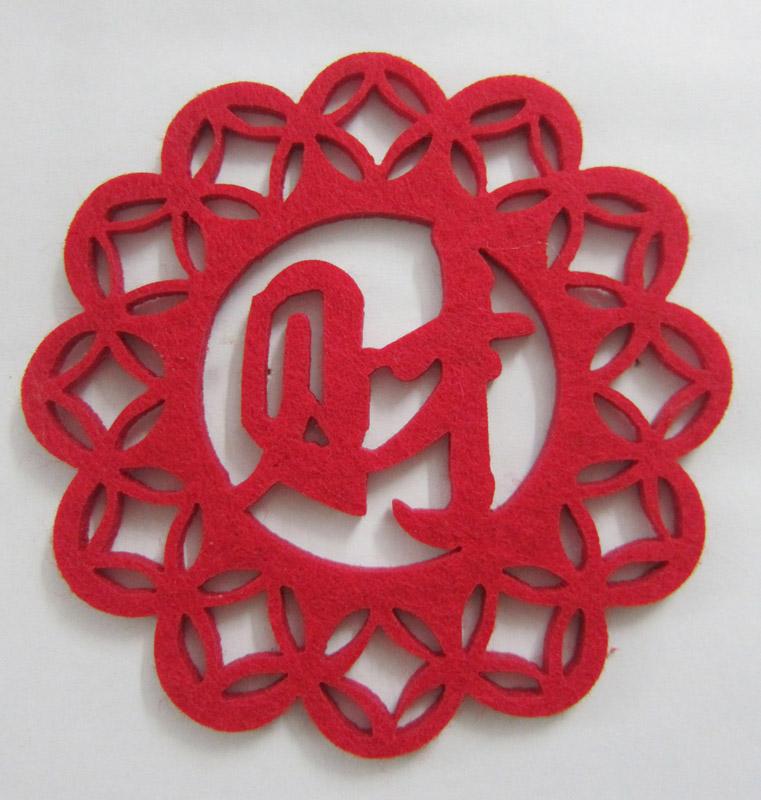 Wedding Decoration Wool Felt Coaster in High Quality (Coaster-30)