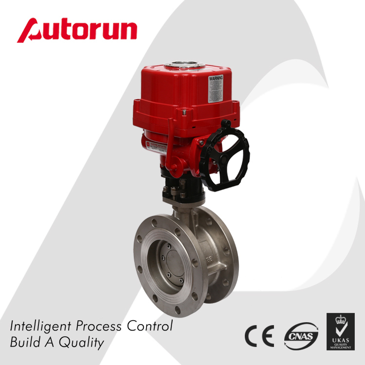 Stainless Steel Electrical Three Eccentric Flange Butterfly Valve