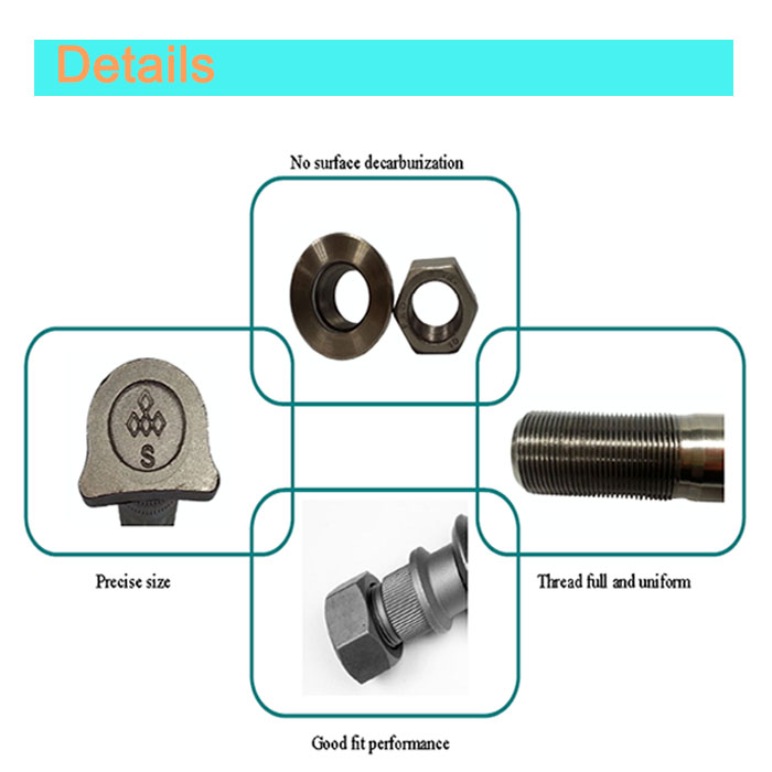 Hex Universal Bolt and Nut Auto Paets for Trailer