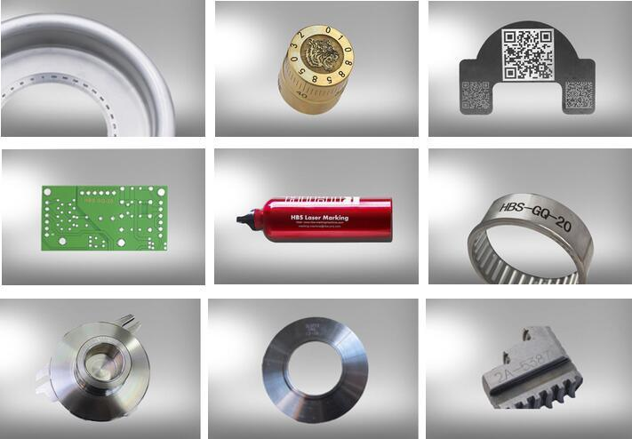 Portable Hand-Held Fiber Laser Marking System for Auto Parts and Big Work Piece