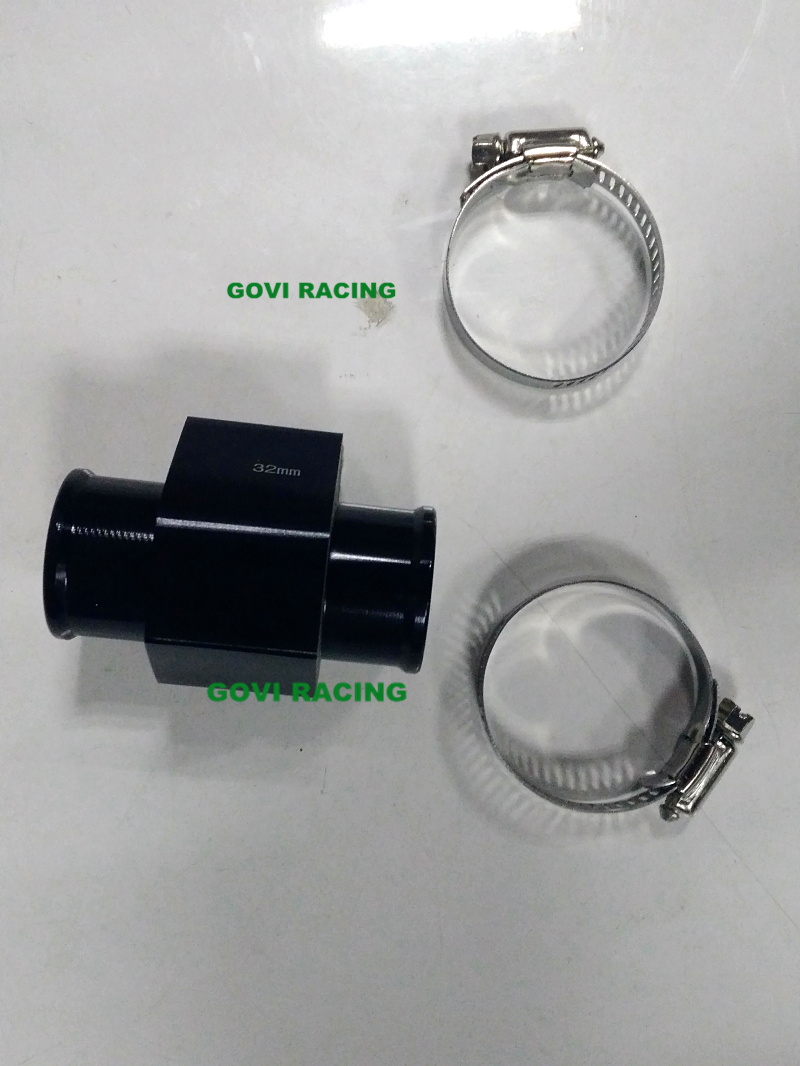 Water Temperature Sensor Adapter With28/32/34/36mm Radiator Hose 1/8 NPT Coolant Temp Gauge Temp Joint for Motorcycle